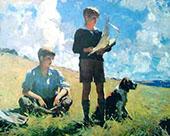 Two Boys 1926 By Frank Weston Benson