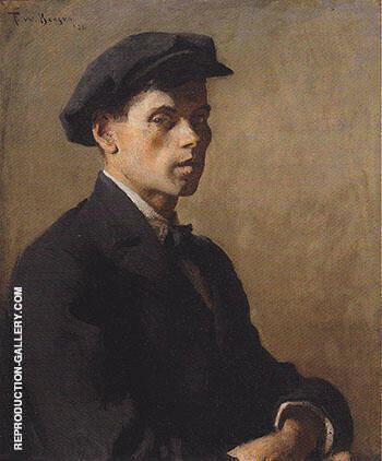 Portrait of a Man Study in Shadows 1922 By Frank Weston Benson