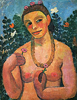Self Portrait with Amber Necklace Detail 1906 By Paula Modersohn-Becker