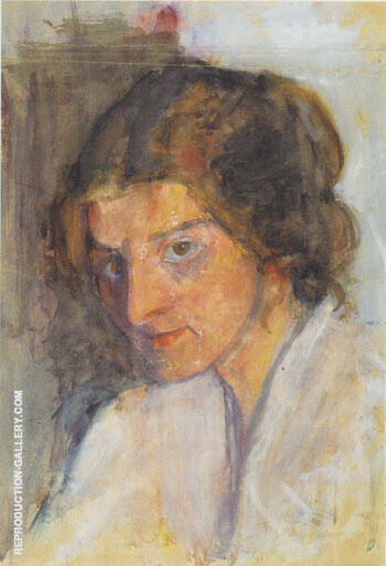 Self Portrait 1897 Painting By Paula Modersohn-Becker