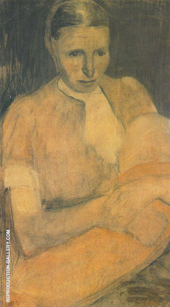 Peasant Woman Nursing her Baby 1898 By Paula Modersohn-Becker