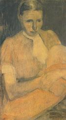 Peasant Woman Nursing her Baby 1898 By Paula Modersohn-Becker
