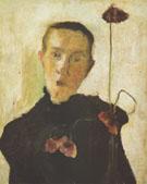 Woman with Poppy 1898 By Paula Modersohn-Becker