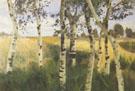 Birch Trees and Cornfield 1869-1909 By Paula Modersohn-Becker