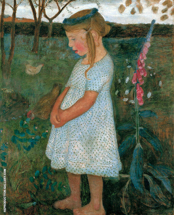 Elsbeth in the Brunjes Garden 1902 Painting By Paula Modersohn-Becker