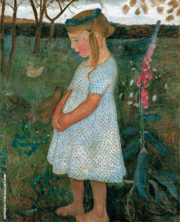 Elsbeth in the Brunjes Garden 1902 By Paula Modersohn-Becker