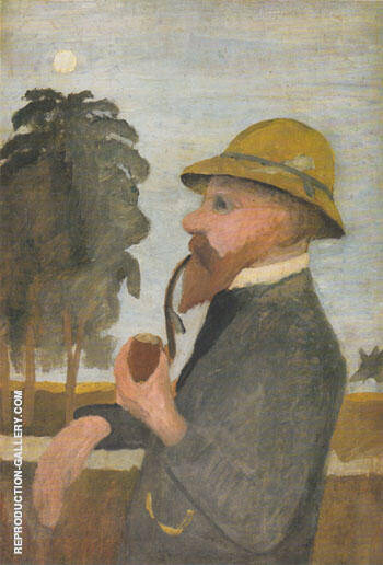 Otto Modersohn with his Pipe 1906/7 By Paula Modersohn-Becker - Oil Paintings & Art Reproductions - Reproduction Gallery
