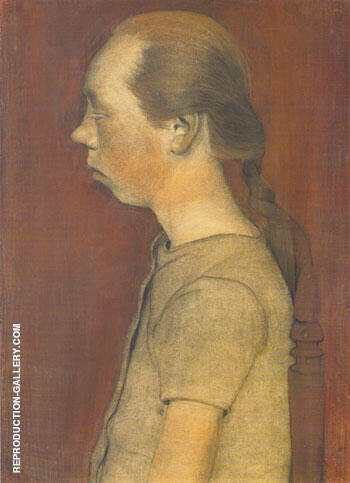 Seated Girl in Profile 1899 By Paula Modersohn-Becker