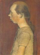 Seated Girl in Profile 1899 By Paula Modersohn-Becker