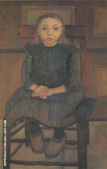 Worpswede Peasant Girl on a Stool 1905 By Paula Modersohn-Becker