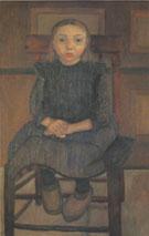 Worpswede Peasant Girl on a Stool 1905 By Paula Modersohn-Becker