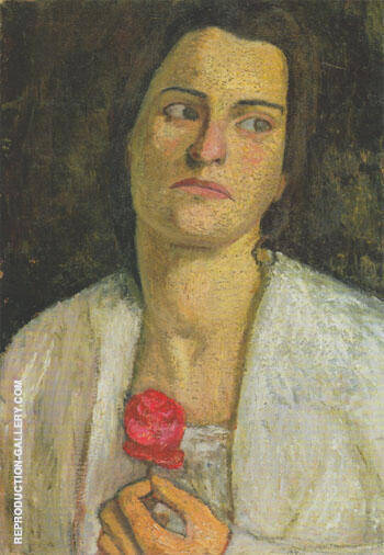 Reproduction of Clara Rilke Westhoff 1905 by Paula Modersohn-Becker | Oil Painting Replica On CanvasReproduction Gallery