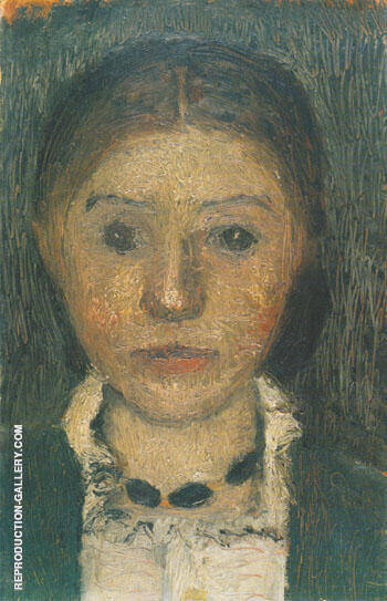 Self Portrait with Necklace 1903 Painting By Paula Modersohn-Becker