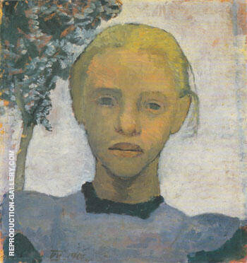 Head of Fair Girl 1901 By Paula Modersohn-Becker