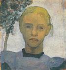 Head of Fair Girl 1901 By Paula Modersohn-Becker
