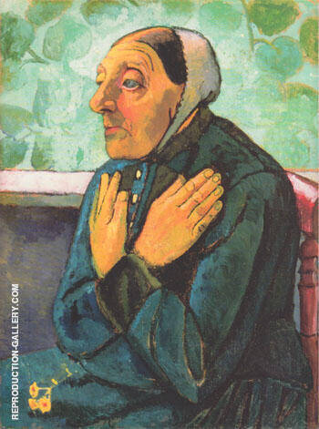 Old Woman Praying 1907 By Paula Modersohn-Becker - Oil Paintings & Art Reproductions - Reproduction Gallery