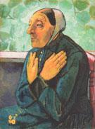 Old Woman Praying 1907 By Paula Modersohn-Becker