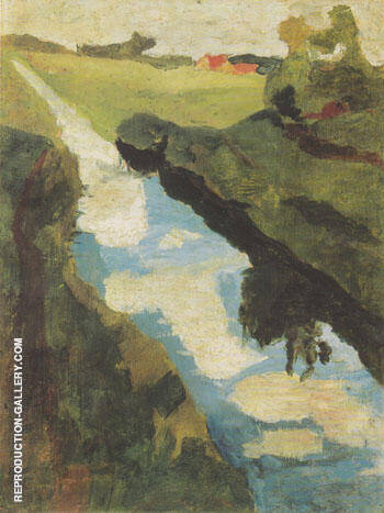 Moor Canal 1900 By Paula Modersohn-Becker Replica Paintings on Canvas - Reproduction Gallery