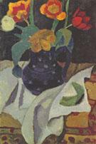 Still Life with Tulips 1907 By Paula Modersohn-Becker
