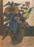 Still Life with Sunflowers 1907 By Paula Modersohn-Becker