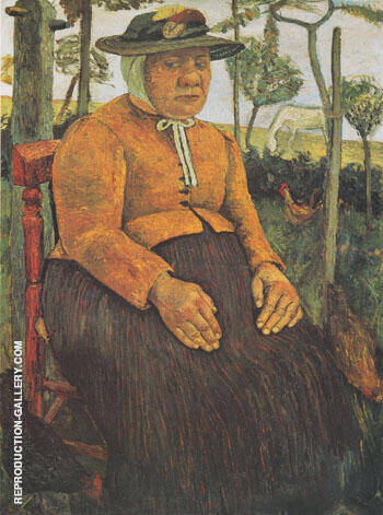 Reproduction of Old Poorhouse Woman 1905 by Paula Modersohn-Becker | Oil Painting Replica On CanvasReproduction Gallery