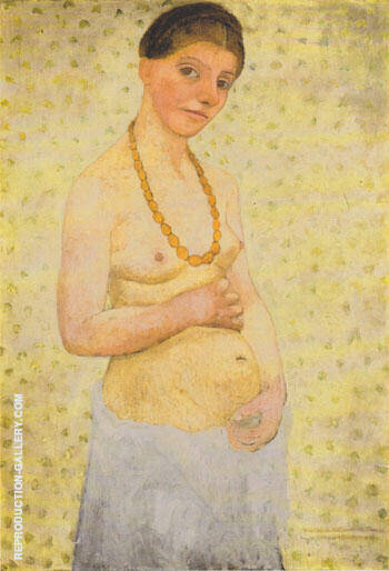 Self Portrait on her 6Th Wedding Anniversary 1906 By Paula Modersohn-Becker