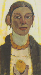 Self Portrait with Lemon 1906/7 By Paula Modersohn-Becker