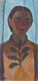 Self Portrait with Camellia Branch 1907 By Paula Modersohn-Becker