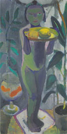 Nude Girl with Goldfish Bowl 1906/7 By Paula Modersohn-Becker