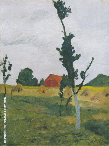 Worpswede Landscape 1900 By Paula Modersohn-Becker Replica Paintings on Canvas - Reproduction Gallery