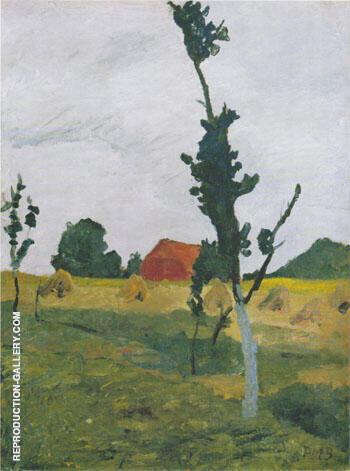 Worpswede Landscape 1900 By Paula Modersohn-Becker