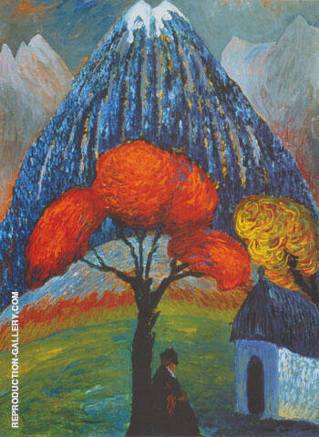Reproduction of Red Tree 1910 by Paula Modersohn-Becker | Oil Painting Replica On CanvasReproduction Gallery