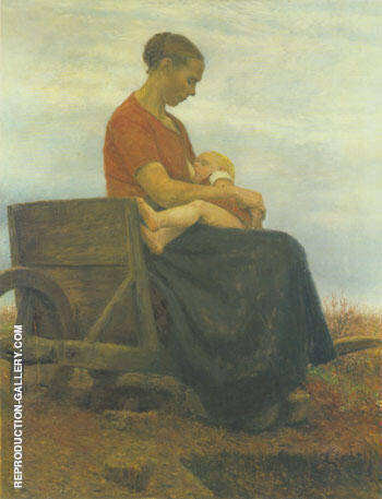 Mother and Child 1892 By Paula Modersohn-Becker Replica Paintings on Canvas - Reproduction Gallery