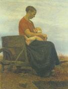 Mother and Child 1892 By Paula Modersohn-Becker