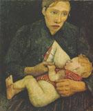 Nursing Mother 1903 By Paula Modersohn-Becker