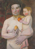 Mother with Baby on Her Arm 1906 By Paula Modersohn-Becker