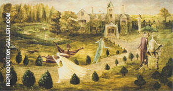 Crookhey Hall 1947 By Leonora Carrington - Oil Paintings & Art Reproductions - Reproduction Gallery