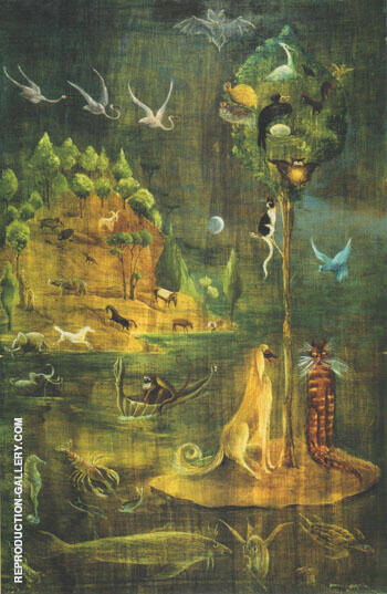 Untitled 1949-50 By Leonora Carrington - Oil Paintings & Art Reproductions - Reproduction Gallery