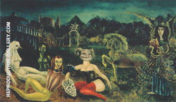 Down Below 1941 By Leonora Carrington - Oil Paintings & Art Reproductions - Reproduction Gallery