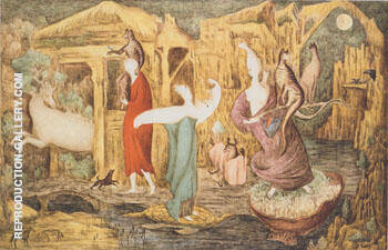 Tuesday 1946 By Leonora Carrington - Oil Paintings & Art Reproductions - Reproduction Gallery