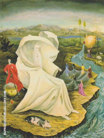 The Temptation of St Anthony 1947 By Leonora Carrington - Oil Paintings & Art Reproductions - Reproduction Gallery