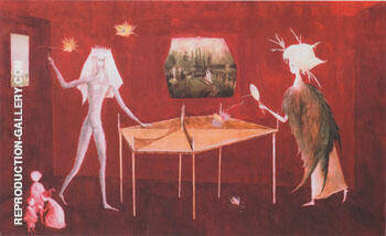 Bird Pong 1949 By Leonora Carrington - Oil Paintings & Art Reproductions - Reproduction Gallery