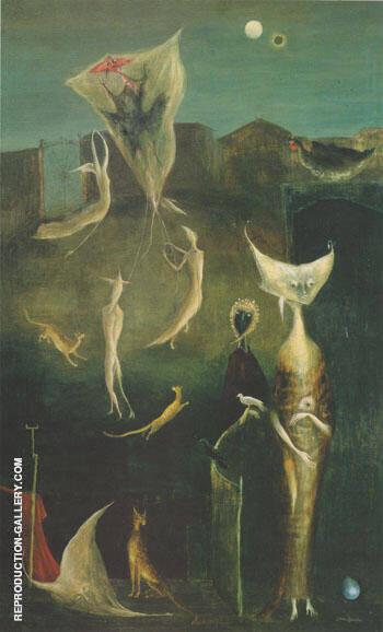 Samain 1951 By Leonora Carrington - Oil Paintings & Art Reproductions - Reproduction Gallery