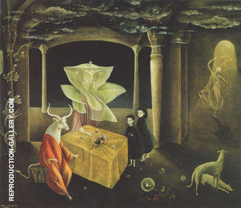 And Then We Saw The Daughter of the Minotaur 1953 By Leonora Carrington - Oil Paintings & Art Reproductions - Reproduction Gallery