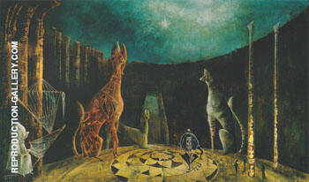Are You Really Syrious 1953 By Leonora Carrington - Oil Paintings & Art Reproductions - Reproduction Gallery