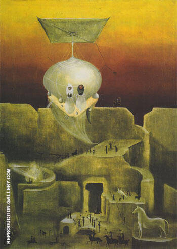 The Flying Ur Jar 1953 By Leonora Carrington - Oil Paintings & Art Reproductions - Reproduction Gallery