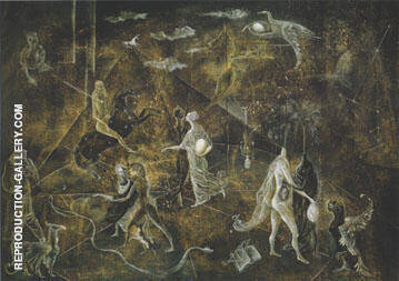 The Garden of Paracelsus 1957 By Leonora Carrington - Oil Paintings & Art Reproductions - Reproduction Gallery