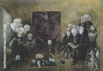 Litany of the Philosophers 1959 By Leonora Carrington - Oil Paintings & Art Reproductions - Reproduction Gallery