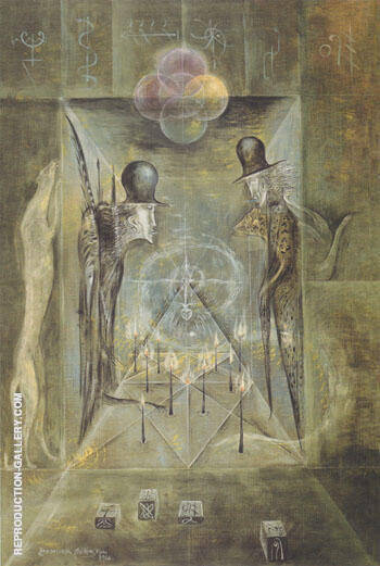 The Candle Game 1966 By Leonora Carrington - Oil Paintings & Art Reproductions - Reproduction Gallery