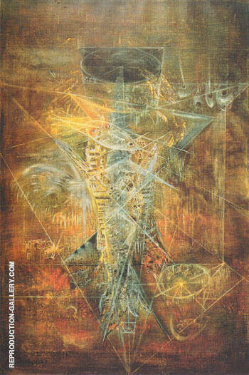 Sachiel the Angel of Thursday 1967 By Leonora Carrington - Oil Paintings & Art Reproductions - Reproduction Gallery